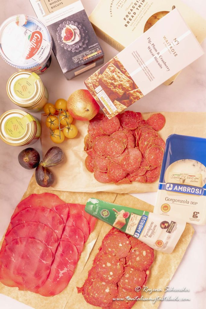 Meat and Cheese platter ingredients