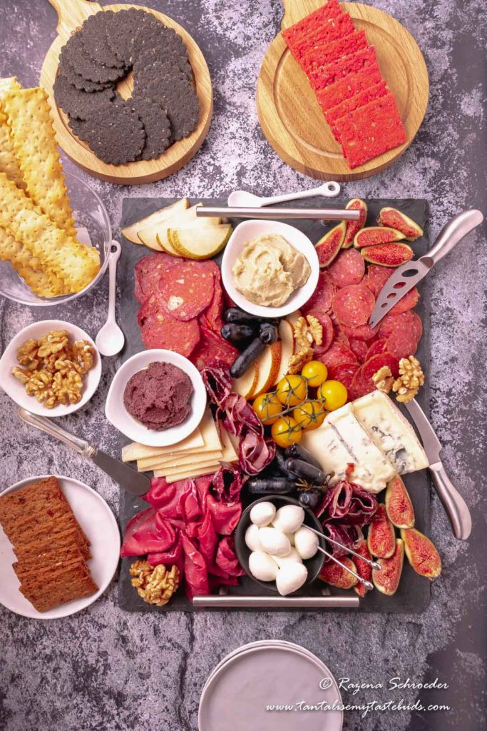 Meat and Cheese platter with crackers