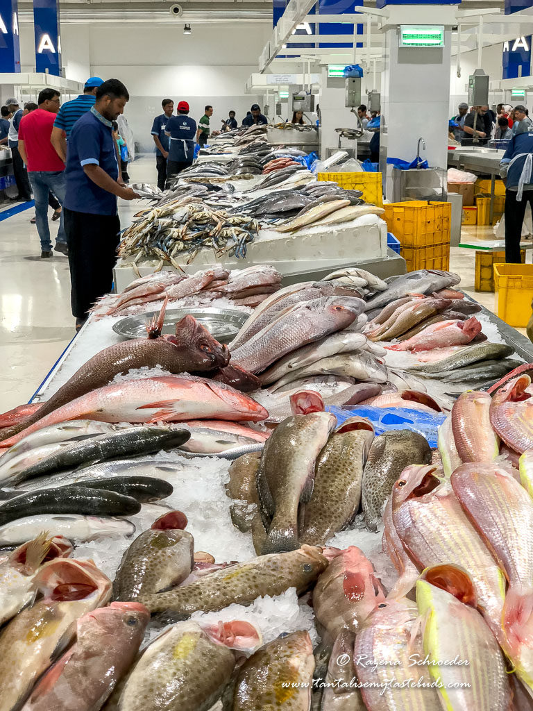 best time to visit Dubai and see Deira Waterfront Fish market display