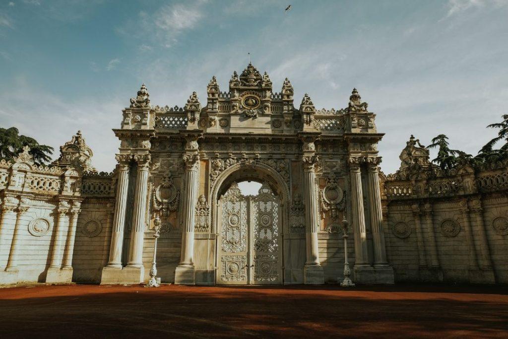 Dolmabahçe Palace gates