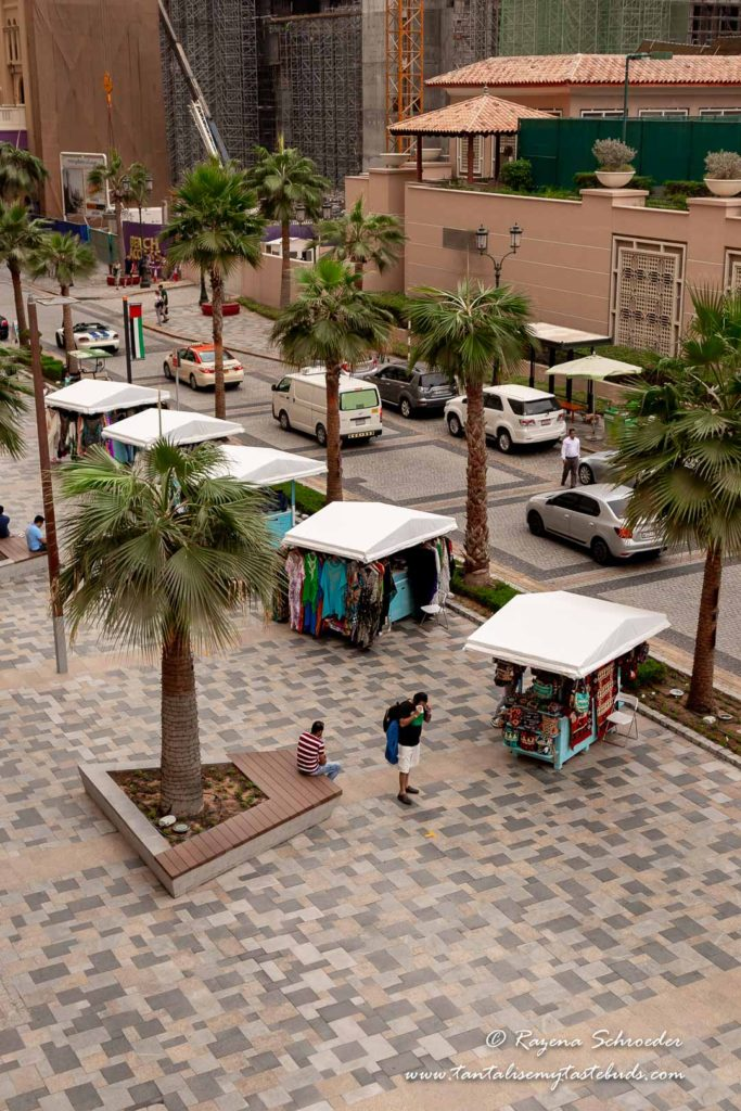 Best time to visit Dubai - JBR the Walk street stalls