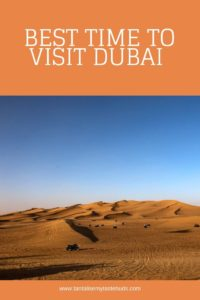 Best time to visit Dubai - dune bashing