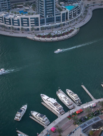 Dubai Marina bird's eye view