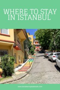 Colorful street in Istanbul