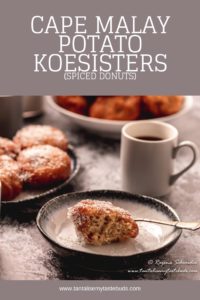 Cape Malay Potato Koesister recipe pin 1