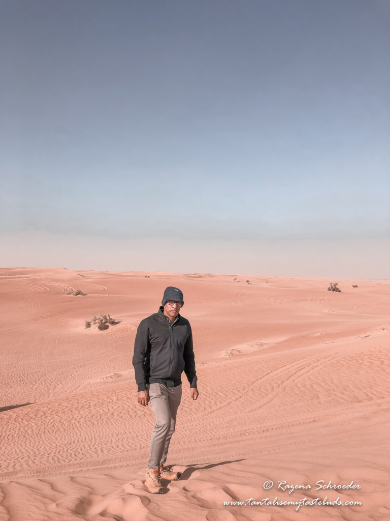 Man in the desert