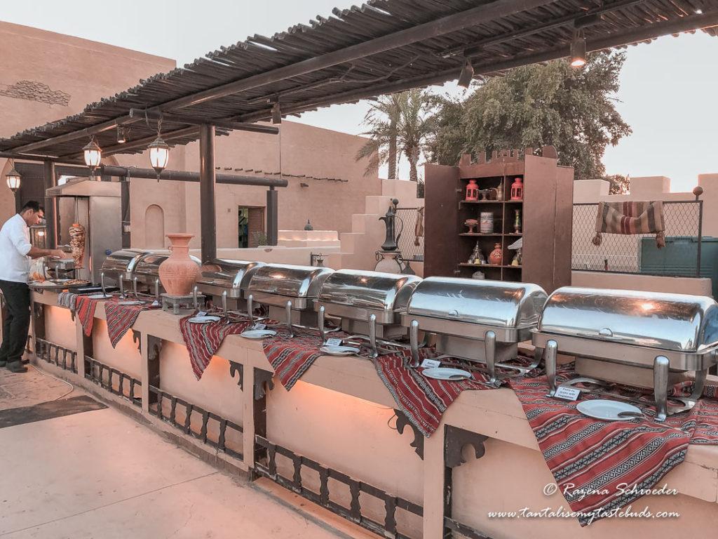 Dubai evening desert safari hot buffet