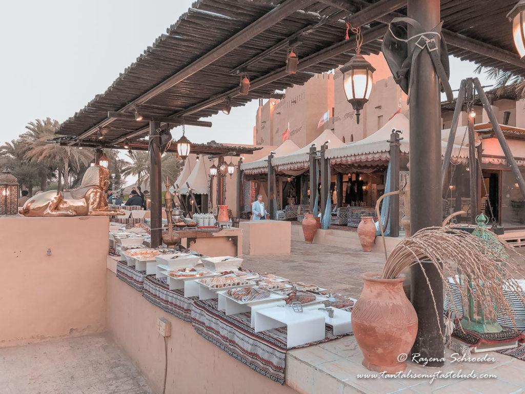 Dubai evening desert safari cold buffet