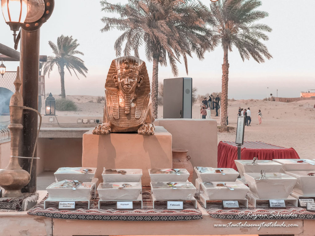 Dubai evening desert safari desserts