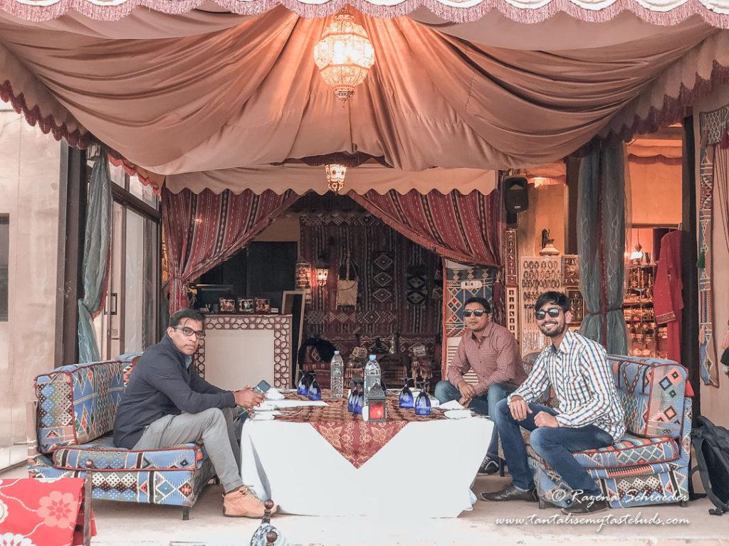 Dubai Evening Desert Safari chillout area