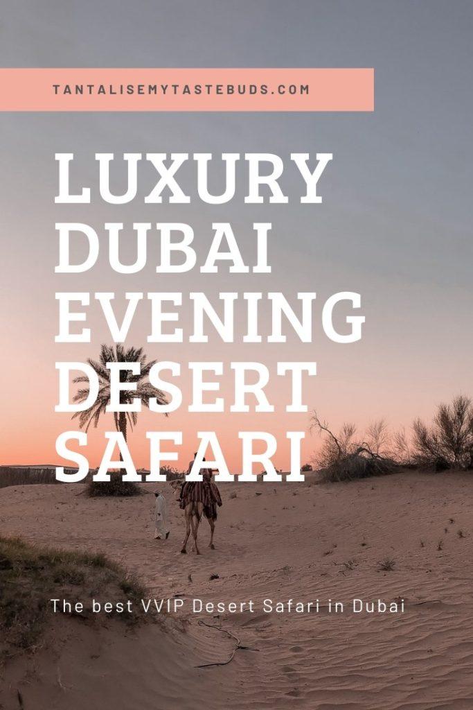 Luxury Dubai evening desert safari pin 2 with camel rides