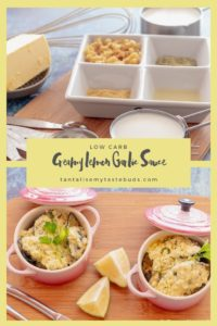 Creamy lemon garlic sauce pin1