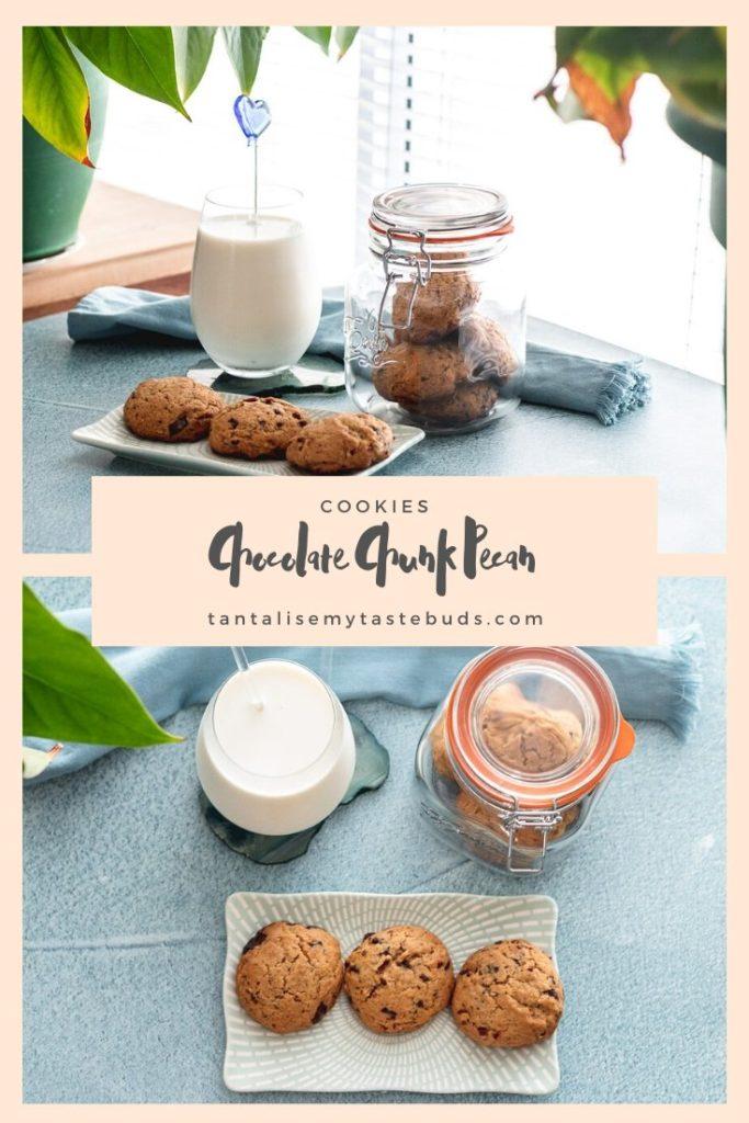 Chocolate Chunk Pecan Cookies pin1