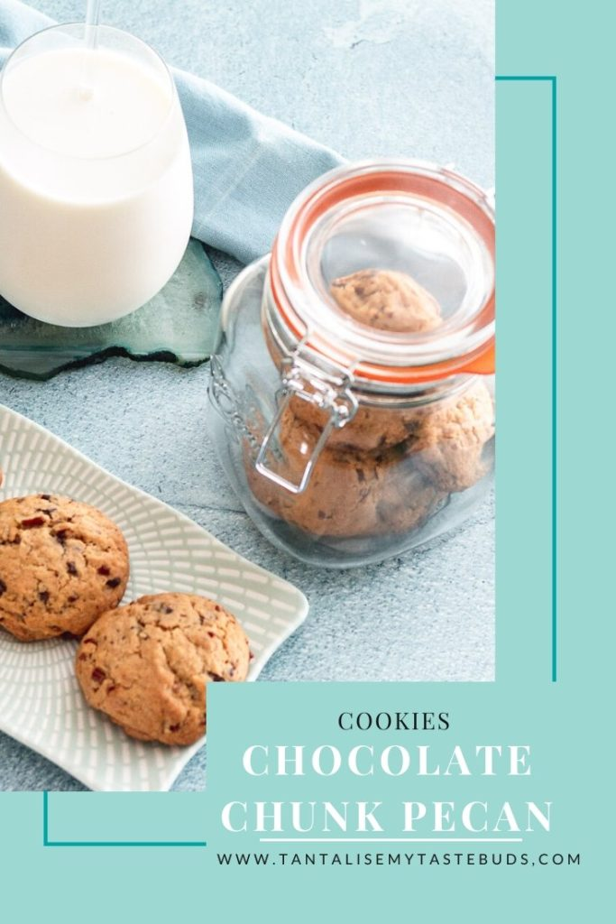 Chocolate Chunk Pecan cookies pin2