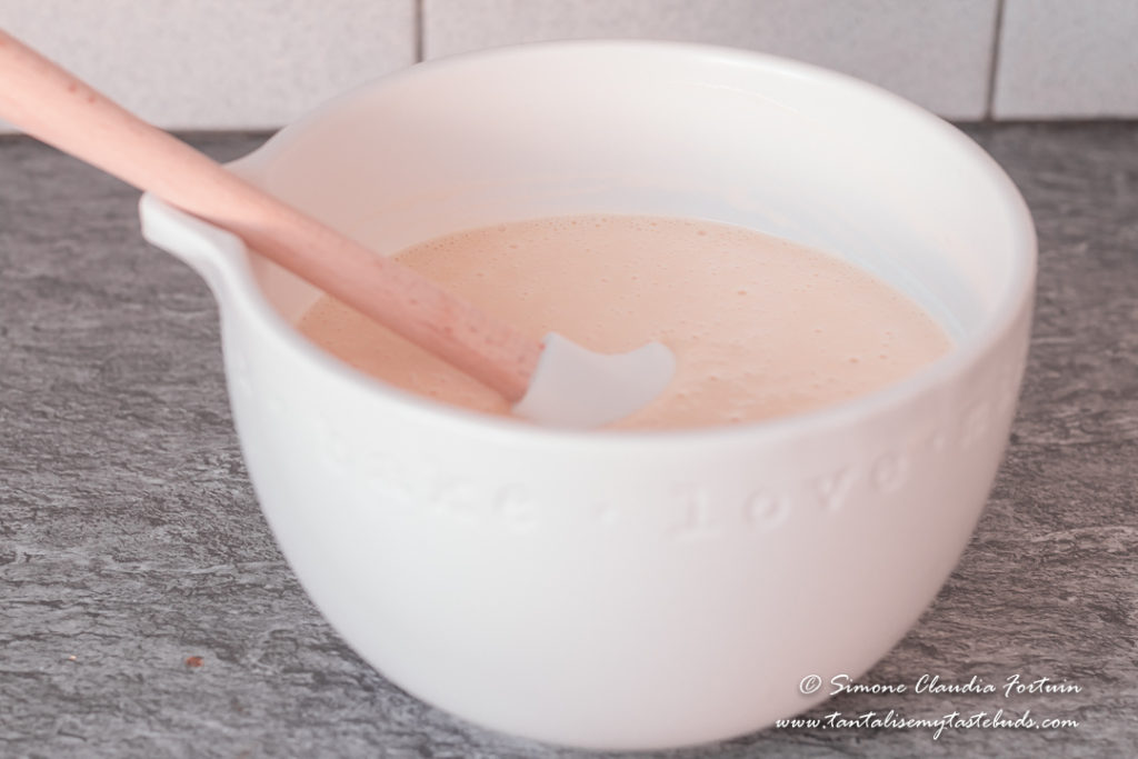 Strawberry Vanilla Cake batter