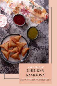 Cape Malay Chicken samoosa recipe pin1