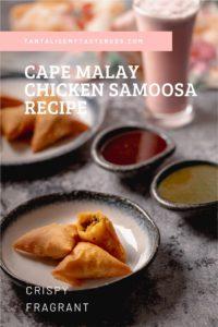 Cape Malay Chicken samoosa recipe pin2