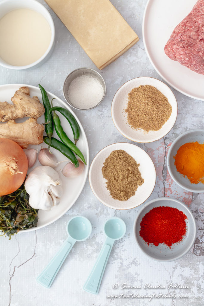 Cape Malay Mince Samoosa recipe ingredients