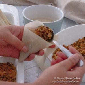 How to wrap samosa 3
