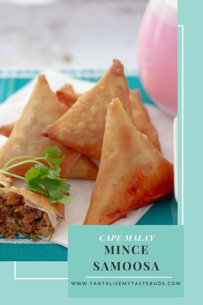 Cape Malay Mince samoosa recipe pin1