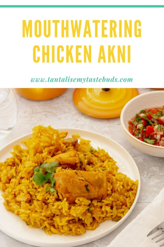 Cape Malay Chicken Akhni Recipe pin1