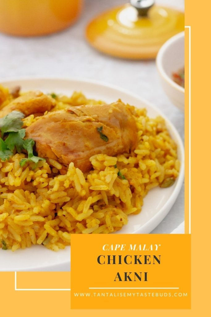 Cape Malay Chicken Akhni Recipe pin2
