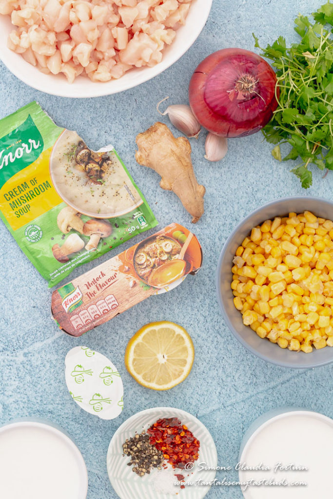 Chicken Corn soup recipe ingredients
