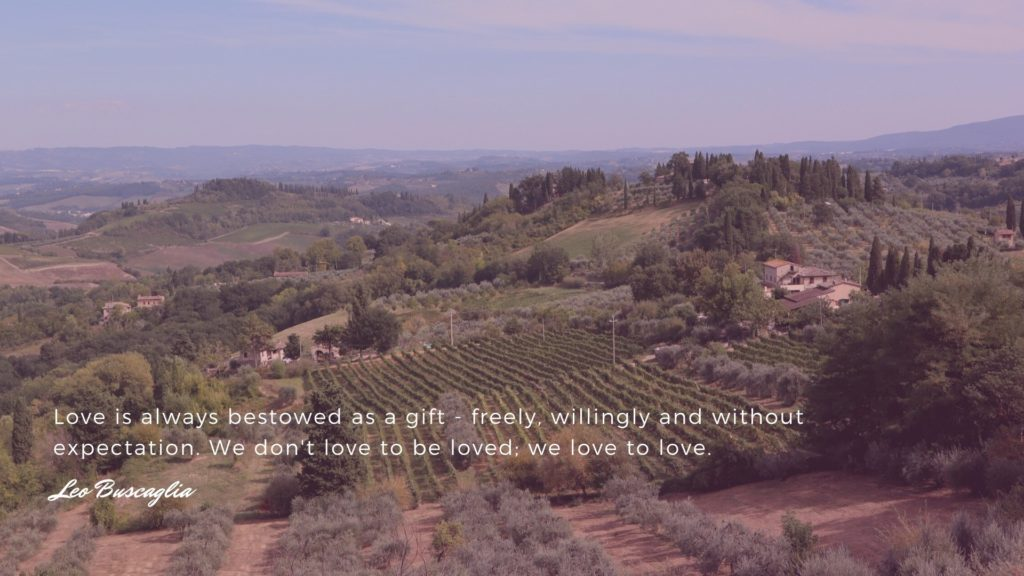 Reflections on love in Tuscany