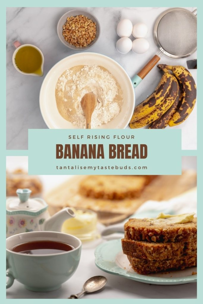 Banana bread with Self rising flour pin1