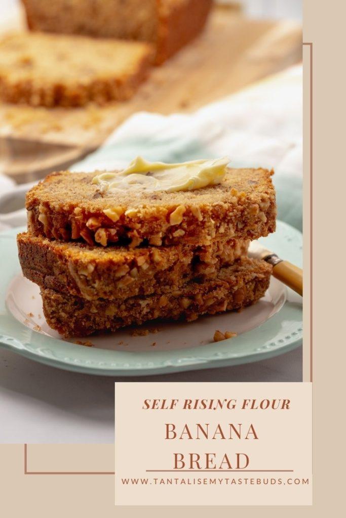 Banana bread with Self rising flour pin2