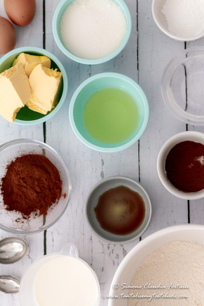 Moist chocolate slab cake recipe ingredients