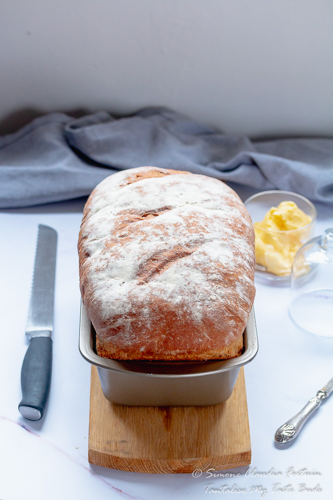 Homemade Farmhouse White Bread out of the oven