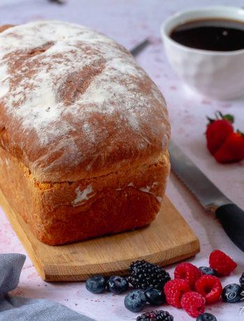 Homemade Farmhouse White Bread recipe unsliced
