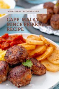 Cape Malay Mince Frikkadel recipe pin 1