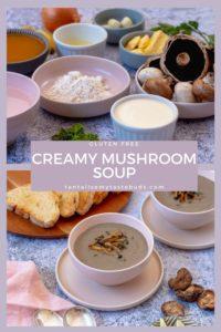 Gluten Free Cream Mushroom soup pin1