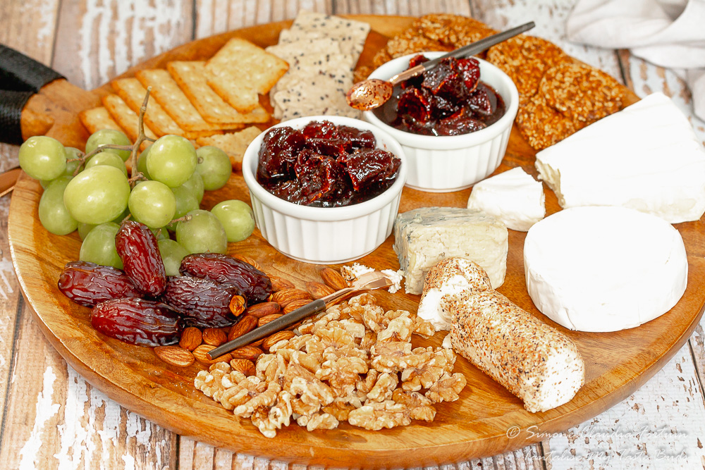 Cape Malay Sour figs konfyt on cheese board