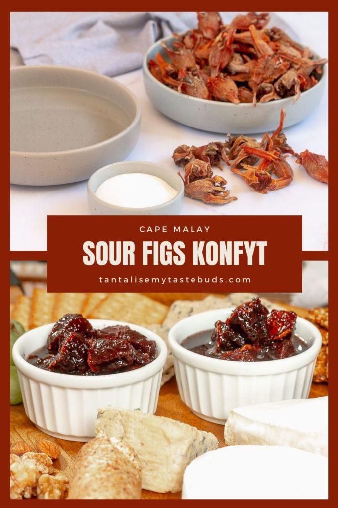 Syrupy Dried Sour Figs Konfyt recipe (Suurvye konfyt) pin1
