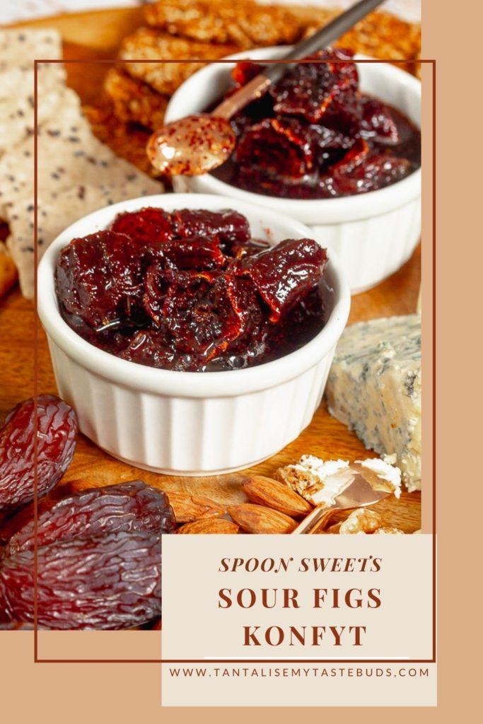 Syrupy Dried Sour Figs Konfyt recipe (Suurvye konfyt) pin2